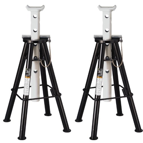 Omega 32107B Black High Lift Jack Stand - 10 Ton - Jack Stands Lift High