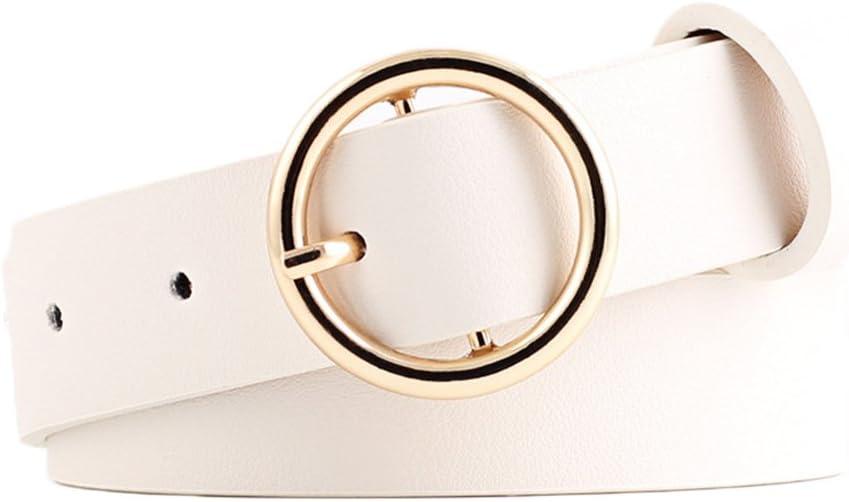 105 cm Doitsa Cintur/ón de mujer sencillo y de moda Rose cintur/ón de piel sint/ética con hebilla redonda para todas las ocasiones