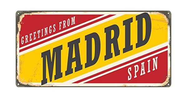 Matricula Decorativa 30,00 cm x 15,00 cm Madrid | Decoración Pared ...