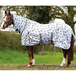 Saxon Mesh Combo Neck Fly Sheet Bee Print 75