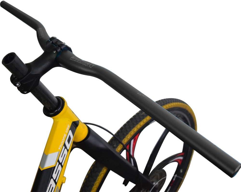 MIGHTYDUTY Mountain Bike Handlebar 31.8mm Lightweight Bicycle Riser Bar Extra Long for MTB Downhill Cycling Racing