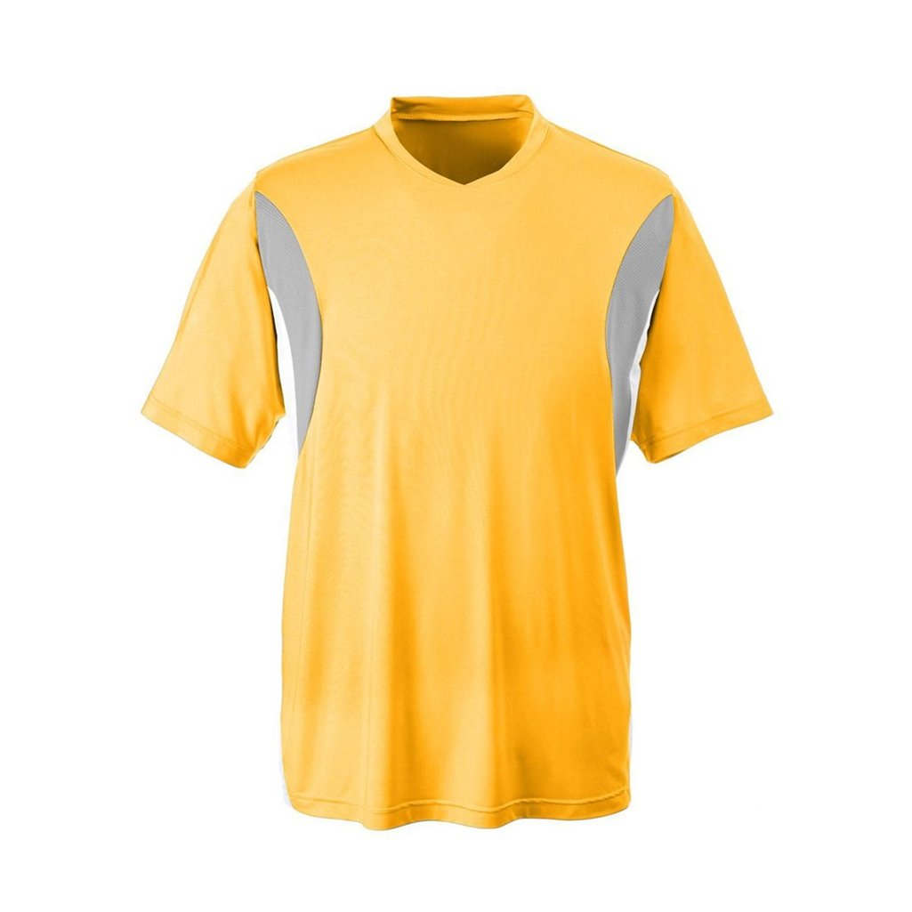 Ash City Apparel Team 365 Mens Short-Sleeve Athletic V-Neck All Sport Jersey (Large, Sport Athletic Gold) by Ash City Apparel