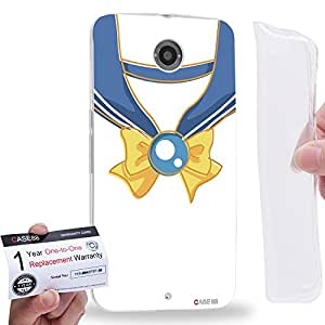 Case88 [Motorola Nexus 6] Gel TPU Phone case & Warranty Card - Sailor (Series Moon) Uranus Vintage