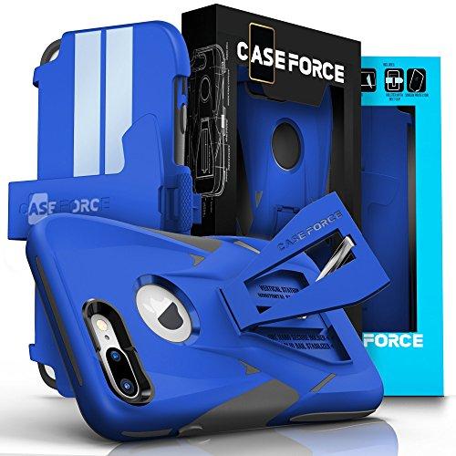 [해외]iPhone 7 Plus Case, CASE FORCE [Velocity Series] 세계 최초의 고속 충격 저항 케이스, 다기능 킥 스탠드 + 회전식 벨트 클립 홀스트/iPhone 7 Plus Case, CASE