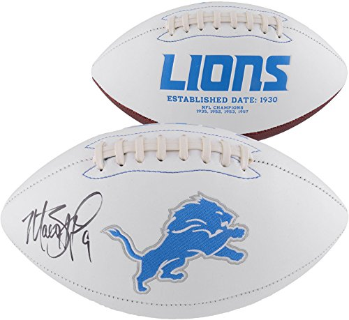 (Matthew Stafford Detroit Lions Autographed White Panel Football - Fanatics Authentic Certified - Autographed Footballs)