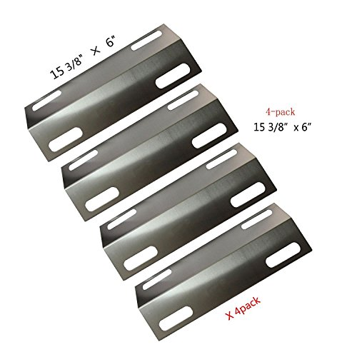 BBQ Energy 99351(4-pack) Stainless Steel Heat Plate Replacement for Select Ducane Gas Grill Models