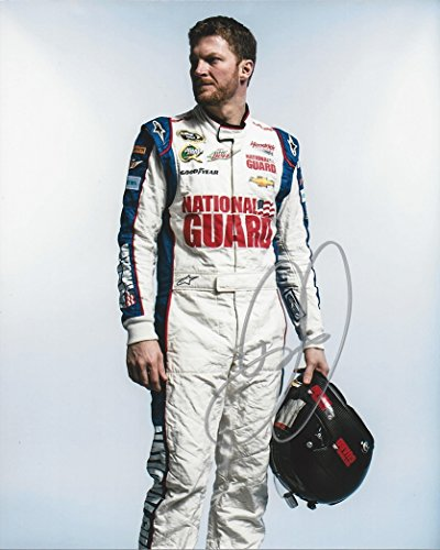 AUTOGRAPHED Dale Earnhardt Jr. #88 National Guard Racing (Media Day Helmet Pose) Hendrick Motorsports Sprint Cup Series Signed Collectible Picture NASCAR 8X10 Inch Glossy Photo with (Dale Earnhardt Photo)
