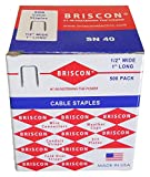 Briscon SN-40-500 NM Cable Staples (500 Pack)