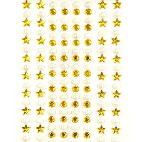 Wrapables 164 Piece Stickers Adhesive Rhinestones