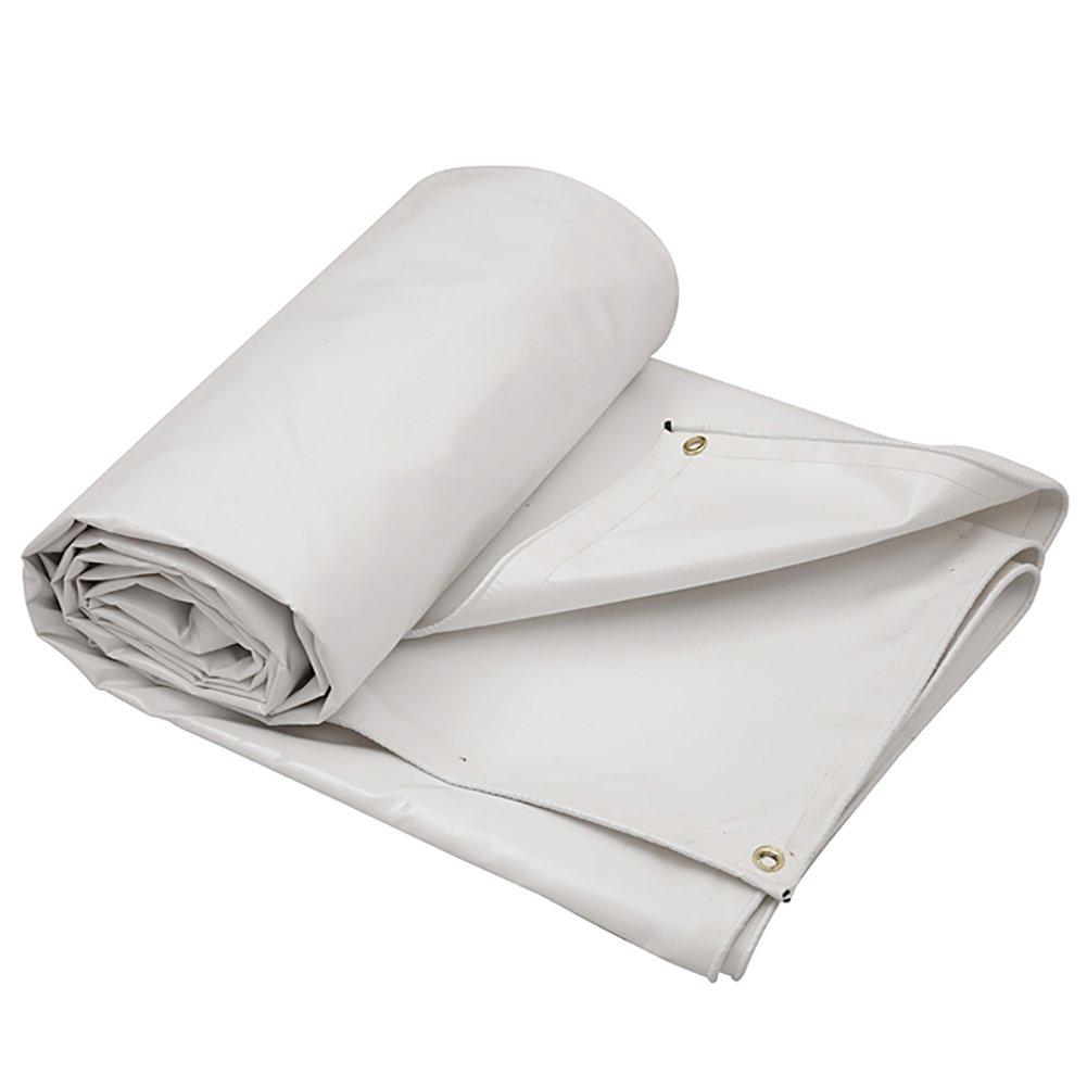 GUOWEI-pengbu ターポリン リノリウム シェード 日焼け止め 防水 老化防止 腐食保護 不凍液 柔らかい ポリエステル糸 屋外 6色 (色 : 白, サイズ さいず : 4.9x2.8m) B07FZ74HRM 4.9x2.8m|白 白 4.9x2.8m