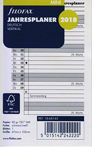 Filofax 000018 - 68145 min Agenda (Año Vertical Alemán 2018 ...