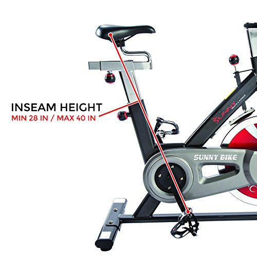 Sunny Health & Fitness Belt Drive Indoor Cycling Bike, Grey by Sunny Health & Fitness (Image #5)