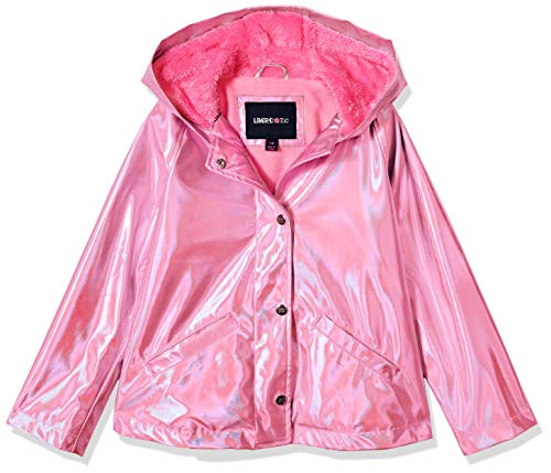 Limited Too Girls' Big Water Resistant Jacket with Fleece Lining, Pink 7/8