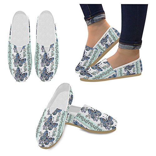 Interestprint Mujeres Loafers Classic Casual Slip On Zapatos De Moda Sneakers Flats Multi 8