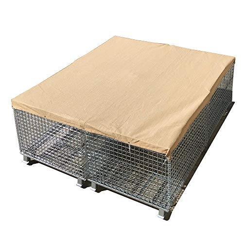 Alion Home Sun Block Dog Run & Pet Kennel Shade Cover Privacy Screen (Dog Kennel not Included) - No Black Trim - Beige (10' x 20') ()
