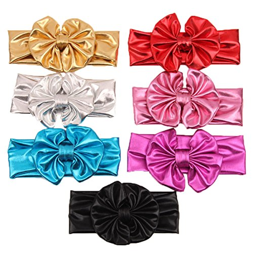 Century Star Baby Girl Vibrant Gilding Metal Color Butterfly Knot Hairband 7 Pcs (Cute And Easy Hairstyles For Halloween)