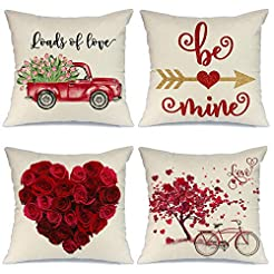 AENEY Valentines Day Pillow Covers 18x18...
