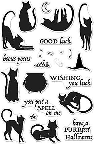 Hero Arts Luna The Halloween Cat Stamp ()