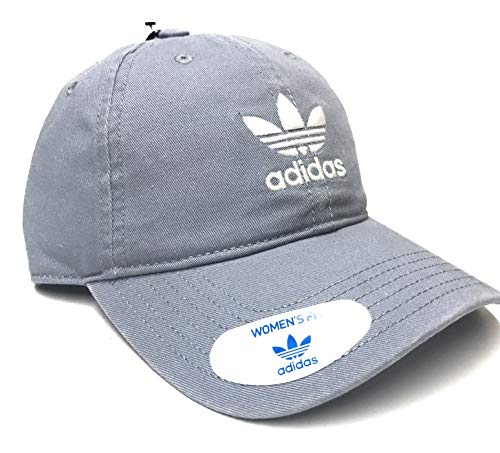 adidas Originals Women's Relaxed Adjustable Strapback Cap, One Size (Grey/White) (Cap Women Adidas)