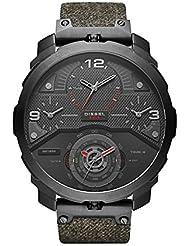 Diesel Mens DZ7358 Machinus Black Ip Denim  Watch