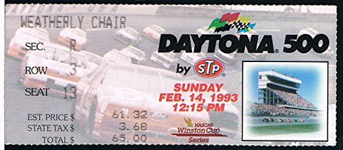 1993 Daytona 500 NASCAR Ticket Stub - Daytona 500 Tickets