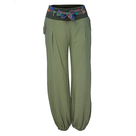 RISTHY Pantalones Anchos Mujeres Pantalones Harén Pantalones ...