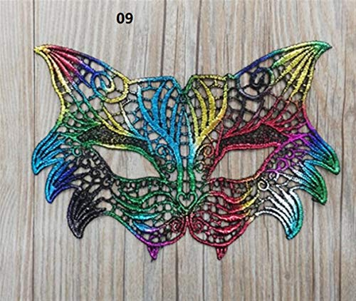 Classic Cute Party Ornament Halloween Party Hot Stamping Lace Mask Ladies Sexy Prom Veil(09)