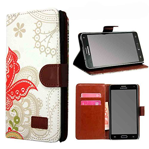 Galaxy Note 4 Case, Linkertech Samsung Galaxy Note 4 Retro Pattern Series Pu Leather Wallet Card Holder Flip Case Cover with Stand Function for Samsung Galaxy Note 4 (B1)
