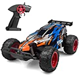 IMDEN Remote Control Car, 2.4Ghz 1: 22 High Speed Racing Car with Four Batteries( Two Rechargeable Batteries for Car, Two 1.5Aa Batteries for Transmitter), Kids Toys, Blue