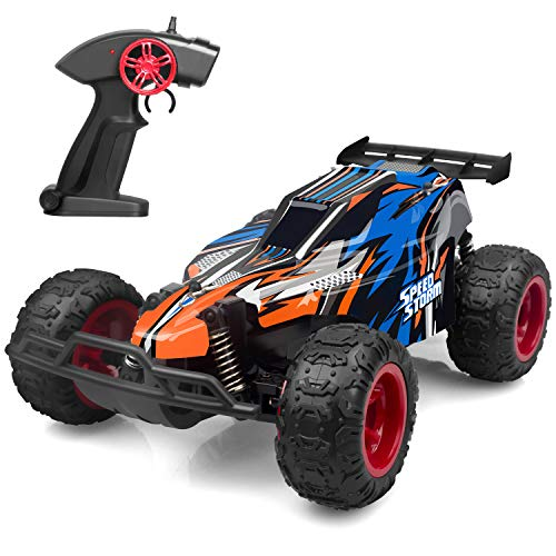 Speed Remote Control (IMDEN Remote Control Car, 2.4Ghz 1: 22 High Speed Racing Car with Four Batteries( Two Rechargeable Batteries for Car, Two 1.5Aa Batteries for Transmitter), Kids Toys, Blue)