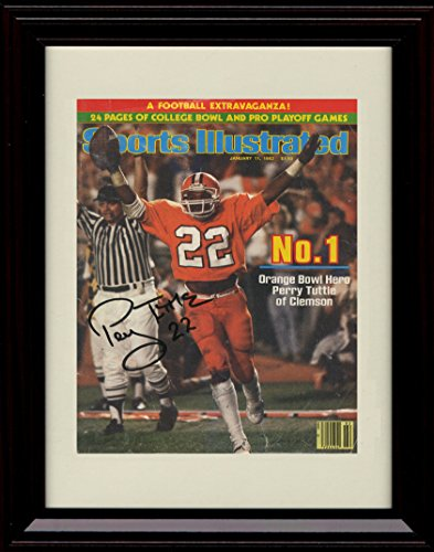 Framed Clemson Tigers Sports Illustrated Autograph Replica Print - 1981 National Champs!