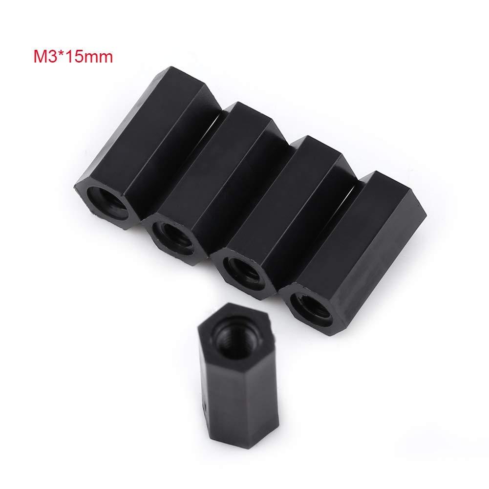 Taille : 10mm Hex Standoff 100Pcs Femelle en nylon noir x Hexagonale filet/ée entretoise filet/ée Entretoise
