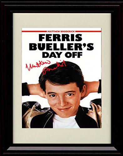 Framed Ferris Bueller's Day Off Autograph Replica Print - Matthew Broderick ()