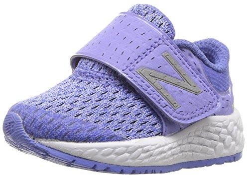 New Balance Girls' Zante v4 Hook and Loop Running Shoe, Ice Violet/Twilight, 2 W US Infant