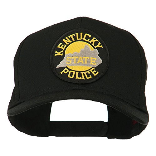 (E4hats Kentucky State Police Patched High Profile Cap - Black OSFM)