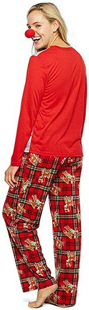 Winter Familien Schlafanzug Damen Herren Kinder Weihnachten Nachtw/äsche Hirsch Druck Nachthemd und Hosen Pyjama Outfits