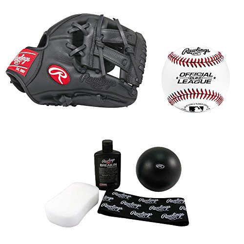 Rawlings G110PTDCM 11-inch Gamer Series Digi-Camo Baseball Glove, Right Hand Throw + Rawlings RAWBRKIT Baseball/Softball Glove Break-In Kit + Rawlings OLB3 Official League Recreational Play Baseball by Rawlings