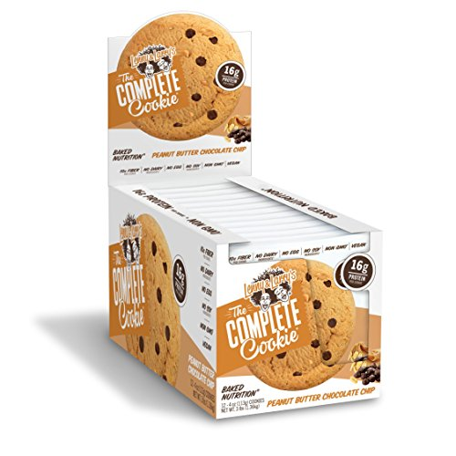 Lenny & Larry's The Complete Cookie, Peanut Butter Chocolate Chip, 4 Ounce Cookies - 12 Count, Soft Baked, Vegan and Non GMO Protein Cookies (Best Peanut Butter Cookie Dough)