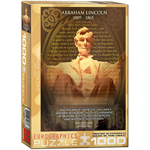 EuroGraphics Abraham Lincoln 1000 Piece Puzzle - Abraham Lincoln Puzzles