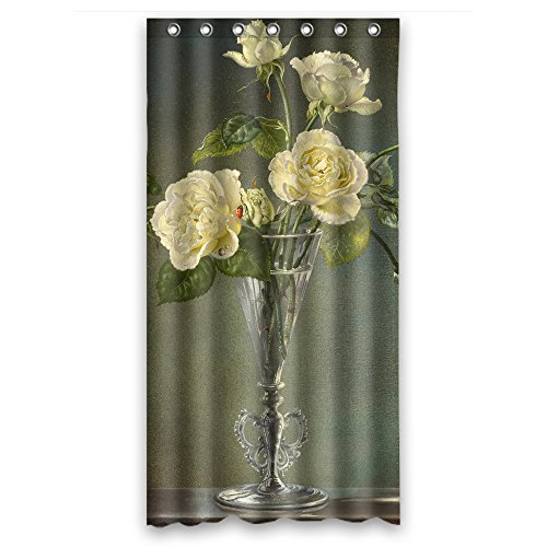 Slimmingpiggy Famous Classic Art Painting Flowers Blossoms Polyester Bathroom Curtains Width X Height / 36 X 72 Inches / W H 90 By 180 Cm For Custom Father Kids Girl ()
