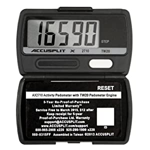 ACCUSPLIT AX2710 Accelerometer Pedometer Steps only