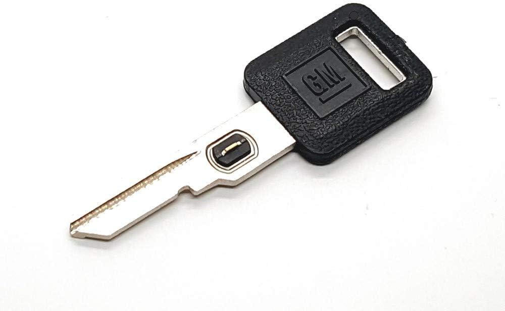 Cadillac 15. GM 595525 Genuine OEM Single Sided Ignition Logo Key Blank w//Vats Resistor Chip #15 Strattec V.A.T.S No Oldsmobile Chevrolet for: Buick Pontiac