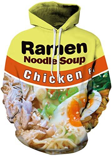 Pandolah Men's Snacks 3D Print Hoodie Sweatshirt with Front Pocket Pullover