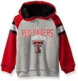 """NCAA by Outerstuff NCAA Texas Tech Red Raiders Kids """"Classic Stripe"""" French Terry Hoodie, Heather Grey, Kids Large(7)"""