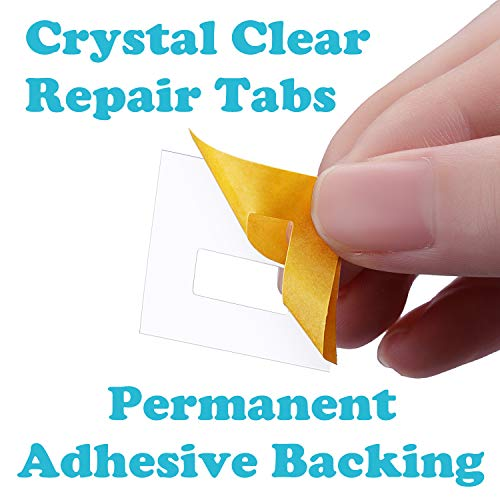 Total 80 Tabs of 40 Set Tatuo 80 Pack Clear Vertical Blind Repair Tabs Vertical Blind Vane Saver Blind Fixers