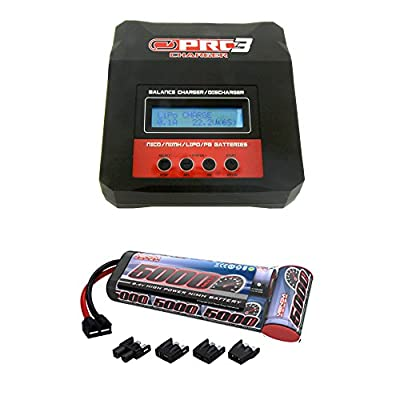 Venom 8.4V 5000mAh 7-Cell NiMH Battery Flat Pack with Universal Plug System and Venom Pro 3 Charger 7Amp RC LiPo and NiMH Battery Balance Combo