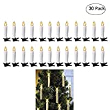 Dream Loom Flameless Flickering LED Candles,Candle Tea Light with Removable Clips and 7-Key Remote Controller,for Home,Votive,Wedding,Christmas,Tree, garden,Birthday,Party (30Pcs Warm White)