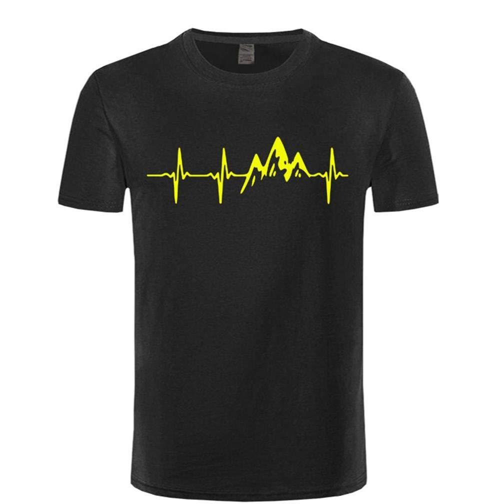 Mountain Yellow Battito Cardiaco S T Shirt Printing Short Sleeve Tee
