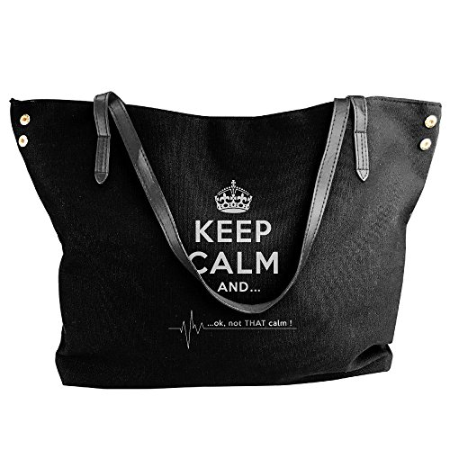 Calm Calm Shoulder Not Tote Women's Large Keep And Handbag OK Capacity Large Black Canvas That Bags tqYtUP