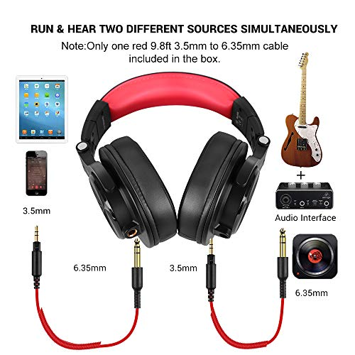 OneOdio A71 Wired Over Ear Headphones, Studio Headphones with SharePort, Professional Monitor Recording & Mixing…